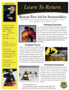 REMOTE FIRST AID COURSE for Snowmachiners !!  LTR & ASC event @ Remote First Aid Class for Snowmachiners | Anchorage | Alaska | United States
