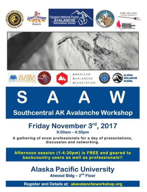 Annual Southcentral Alaska Avalanche Workshop ! @ Southcentral Alaska Avalanche Workshop | Anchorage | Alaska | United States